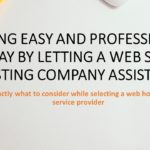 Taking Easy and Professional Way by Letting a Web Site Hosting Company Assist You